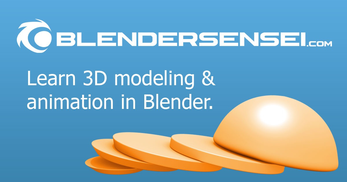 Blender Crash Course Video Training Series | Blender Sensei
